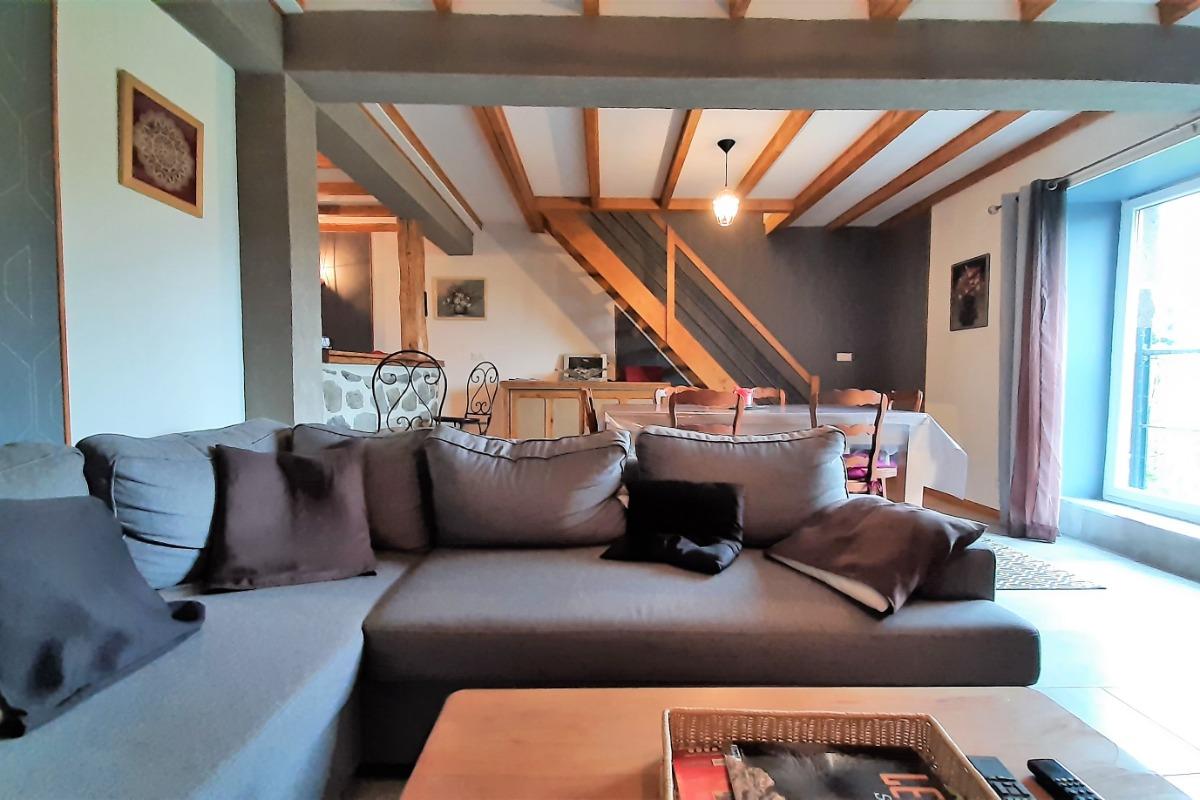 Rez-de-chaussée : Séjour-salon-salle à manger - Location de vacances - Le Puy-en-Velay