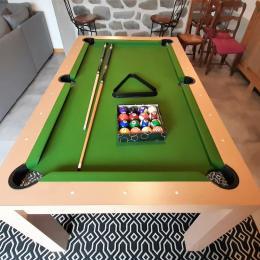 Rez-de-chaussée : table de billard - Location de vacances - Le Puy-en-Velay