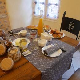 Petit-déjeuner copieux et savoureux ! - Chambre d'hôtes - Brioude