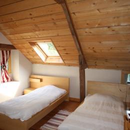 La chambre avec deux lits - Location de vacances - Le Cellier