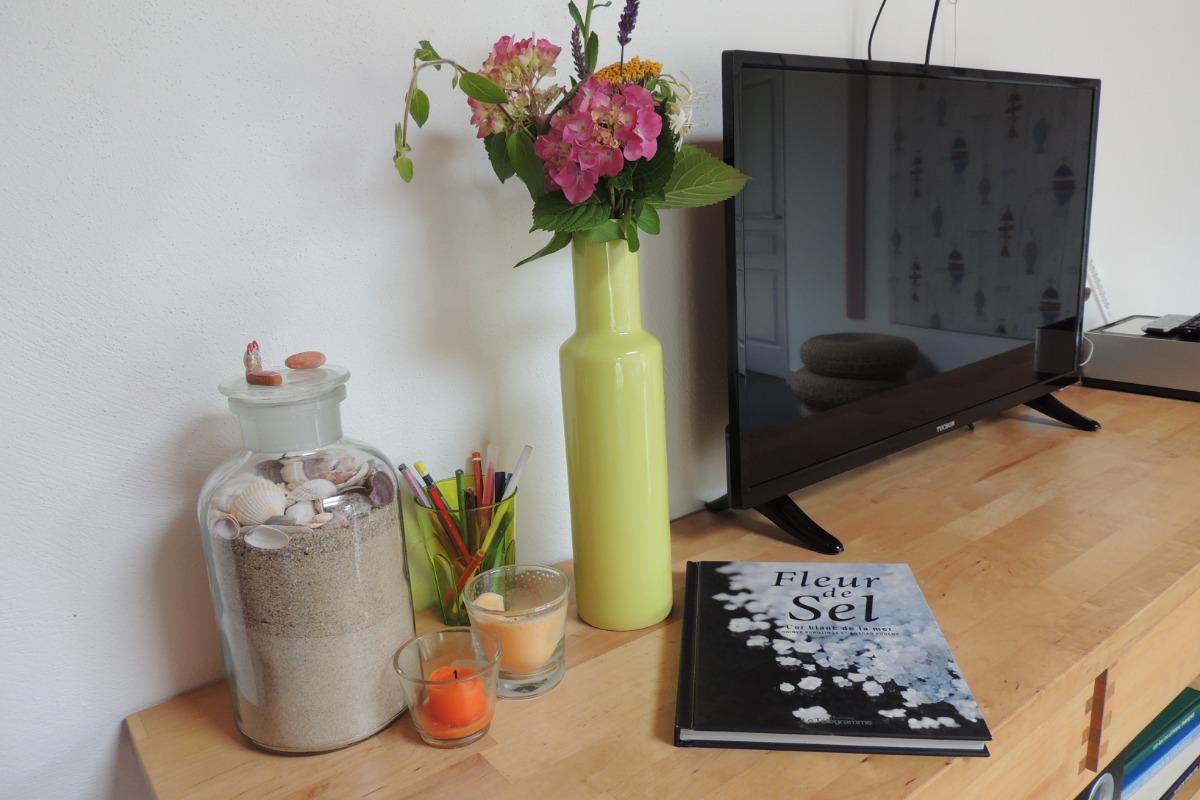 Séjour salon avec cuisine - Location de vacances - Guérande