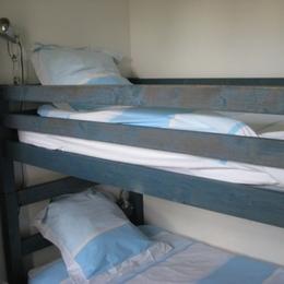 les lits de la petite chambre - Location de vacances - Le Croisic