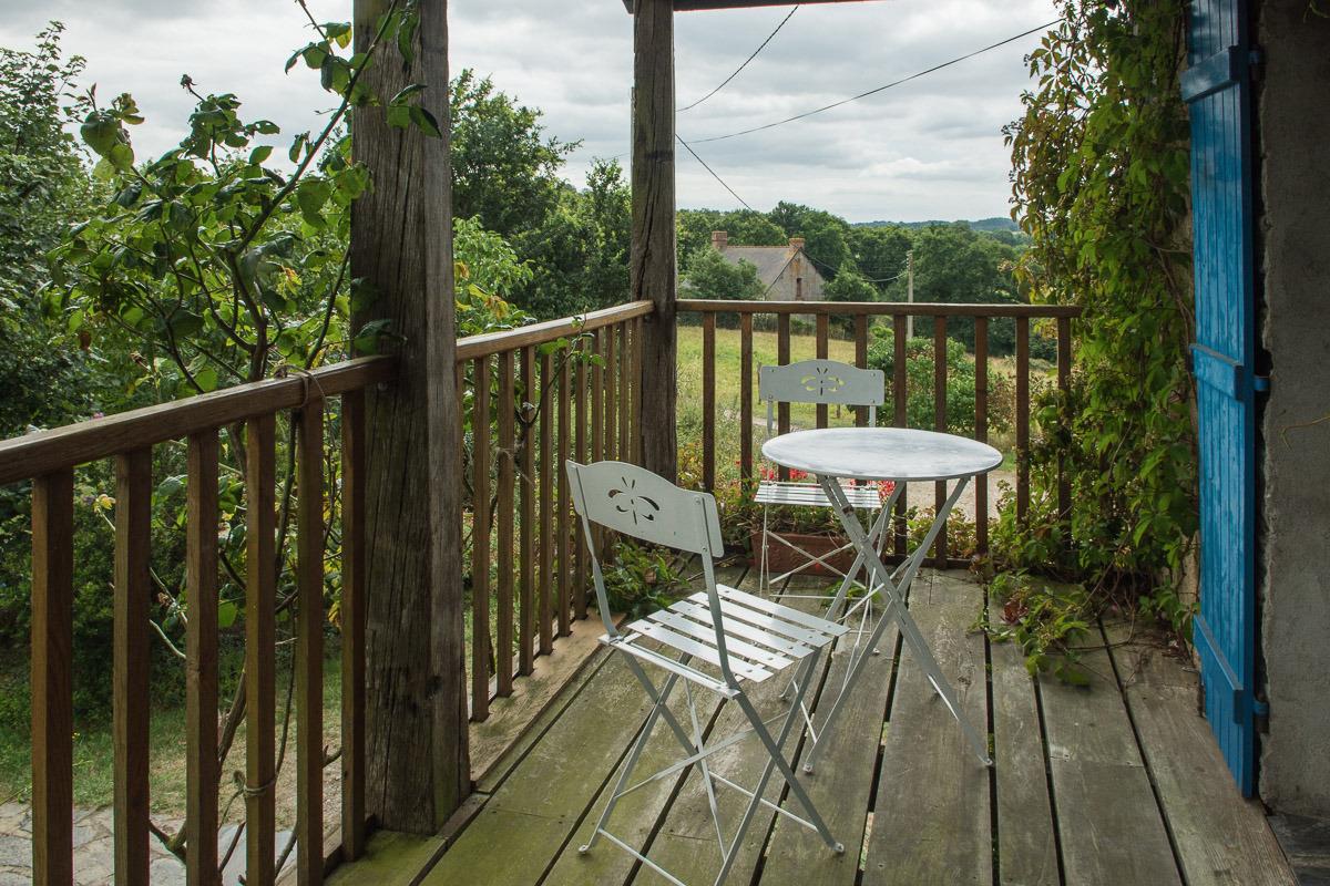 Vue de la terrasse de la cuisine  - Location de vacances - Besle Sur Vilaine