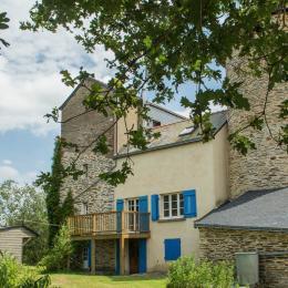 Terrasse du salon orientée ouest pour profiter des couchers du soleil - Location de vacances - Besle Sur Vilaine