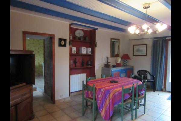 Les Hortensias Séjour coin repas - Location de vacances - Guérande