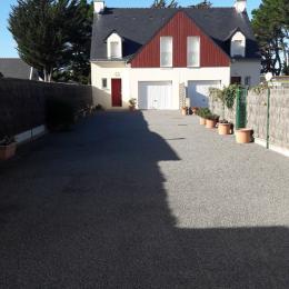 Façade maison mitoyenne - Location de vacances - La Turballe