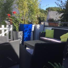 Terrasse salon de jardin  - Location de vacances - Saint-André-des-Eaux