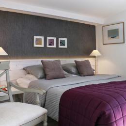 La chambre avec grand lit de 160. - Chambre d'hôtes - La Bernerie-en-Retz