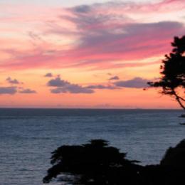 coucher de soleil vu du balcon - Location de vacances - Pornic