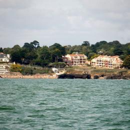 résidence et plage depuis la mer - Location de vacances - Pornic