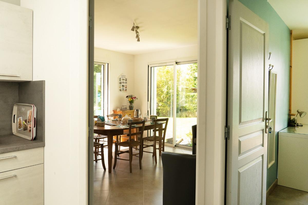 Terrasse en accès directe de la chambre Brest - Chambre d'hôtes - Blain