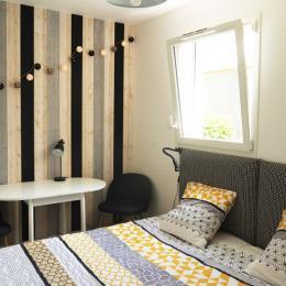 Vue de la maison avec l'extension bois pour l'accueil des hôtes. - Chambre d'hôtes - Blain