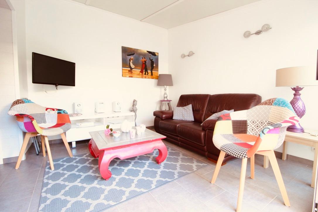 gite centre ville de pornichet - villa charlotte salon  - Location de vacances - Pornichet