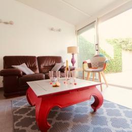 villa charlotte - salon ouvert sur patio - Location de vacances - Pornichet