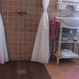 salle d'eau douche à l'italienne - Location de vacances - Piriac-sur-Mer