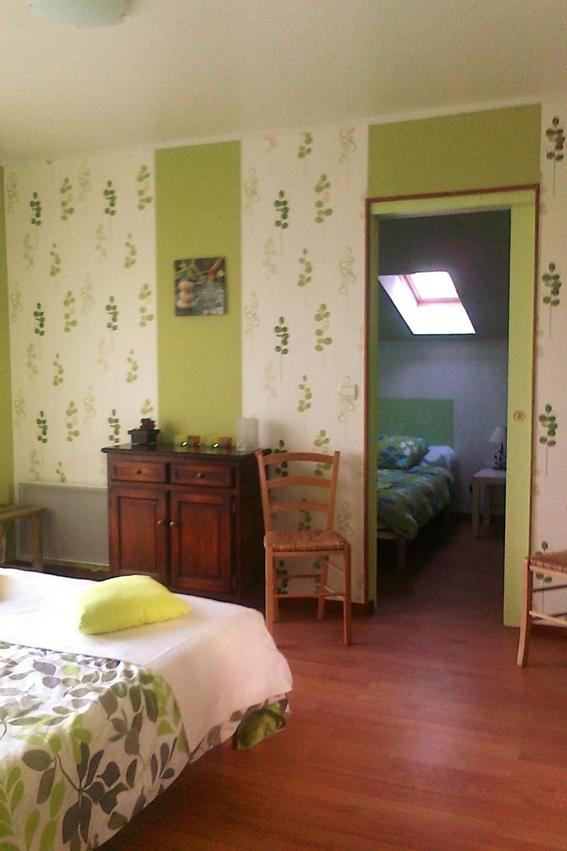 chambre avec  1 lit en 160 - Location de vacances - Missillac