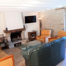 le coin parfait pour le farniente, feu de cheminée, lecture, apéro - Location de vacances - Saint-André-des-Eaux