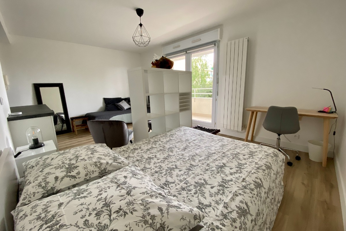 Chambre, bureau, salon - Location de vacances - Nantes