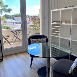 Salon avec vue sur balcon fleuri - Location de vacances - Nantes
