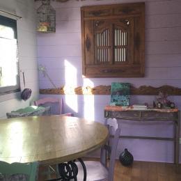 Espace bohème, coloré, joyeux et confortable dans la roulotte «la bohème de cocagne» - Chambre d'hôtes - Saint-Michel-Chef-Chef
