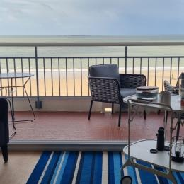 salon sur balcon et face à la mer  - Location de vacances - La Baule-Escoublac
