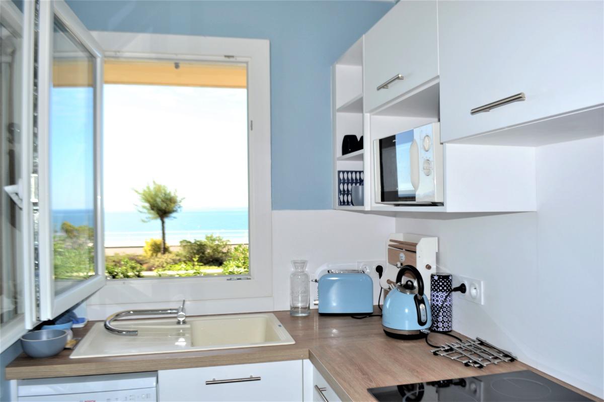 appartement la Baule vue mer- cuisine - Location de vacances - la Baule