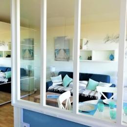 appartement la baule vue mer- séjour - Location de vacances - la Baule
