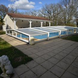 La piscine et sa plage - Location de vacances - Calès Lot