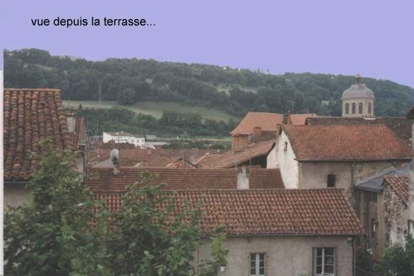 vue sur le cingle et l'église saint sauveur - Location de vacances - Figeac