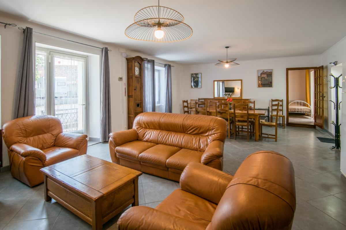 La terrasse côté jardin - Location de vacances - Labastide-Murat