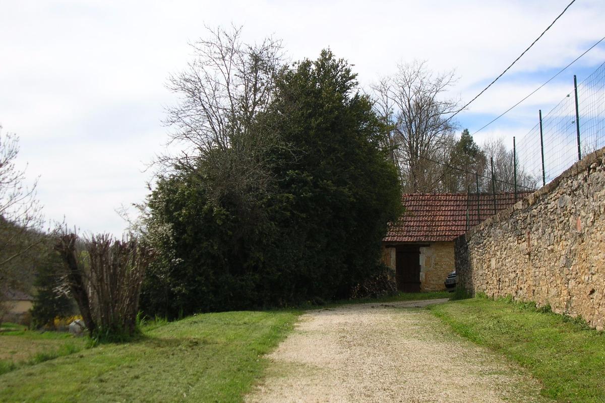 chemin d'arrivée avec grangette - Location de vacances - Salviac