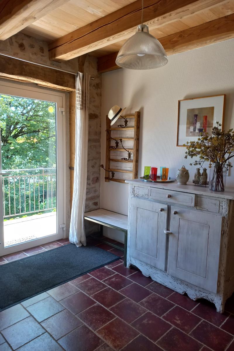 la terrasse en bois au sud - ouest - Location de vacances - Lacam-d'Ourcet