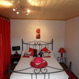 Partie couchage chambre salon  - Location de vacances - Cajarc