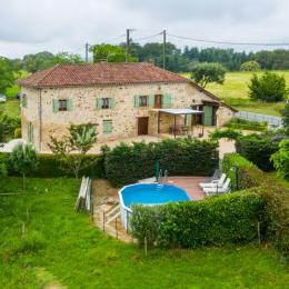 façade maison - Location de vacances - Saint-Médard-Nicourby