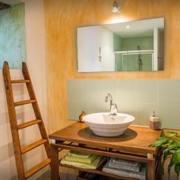 Le charme des vielles pierres - Salle d'eau - Chambre Grande Ourse - Chambre d'hôtes - Espédaillac