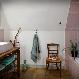 Le charme de la mansarde - Etoile du Berger - Salle de Bain. - Chambre d'hôtes - Espédaillac