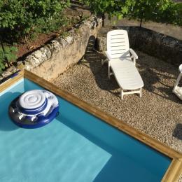 Piscine hors sol privative non chauffée - Location de vacances - Porte-du-Quercy