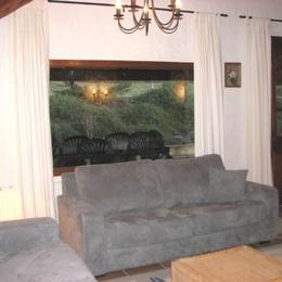 Côté salon du grand gîte - Location de vacances - Pinel-Hauterive