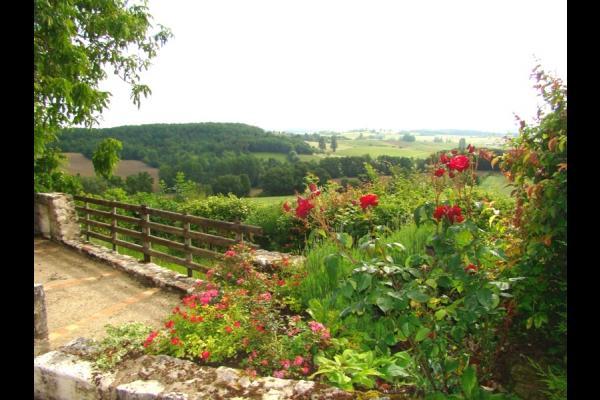 le paysage vu de la terrasse - Location de vacances - Loubès-Bernac