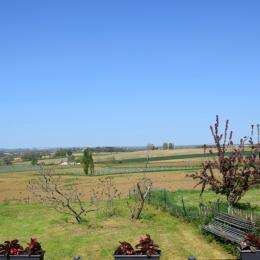 vue depuis la terrasse privative de la chambre - Chambre d'hôtes - Mézin