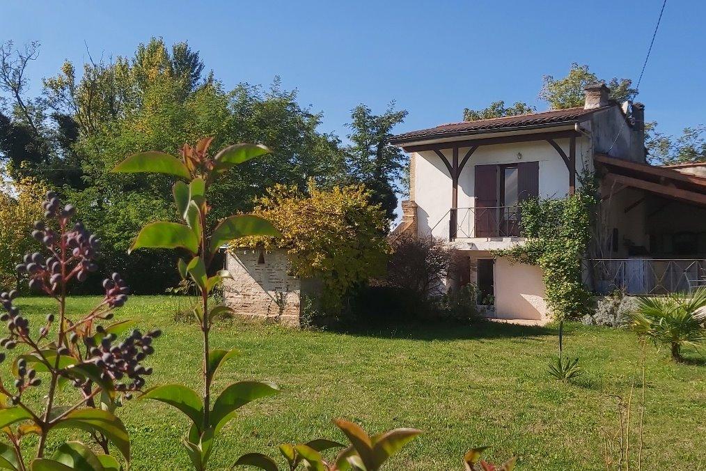 vue sur le Lot depuis la terrasse - Location de vacances - Aiguillon