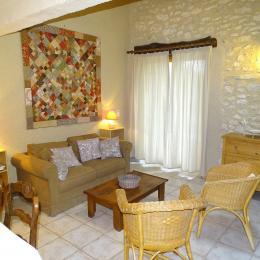 Gîte Les Laurières - Le Vignal - Salon  - Location de vacances - Monflanquin