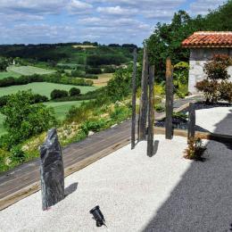 vue depuis la terrasse du centre de bien-être - Chambre d'hôtes - Clermont-Dessous
