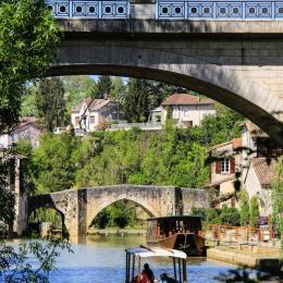 Pont-neuf et Pont-vieux sur la rivière Baïse à Nérac - Chambre d'hôtes - Nérac