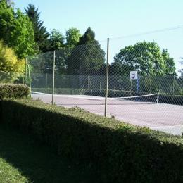 terrain de tennis sur la propriété - Location de vacances - Lauzun