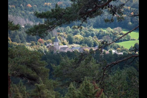 Vue du village de La Tieule - Location de vacances - La Tieule