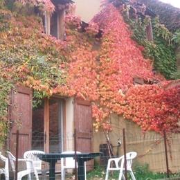 terrasse en automne - Location de vacances - Le Pont de Montvert
