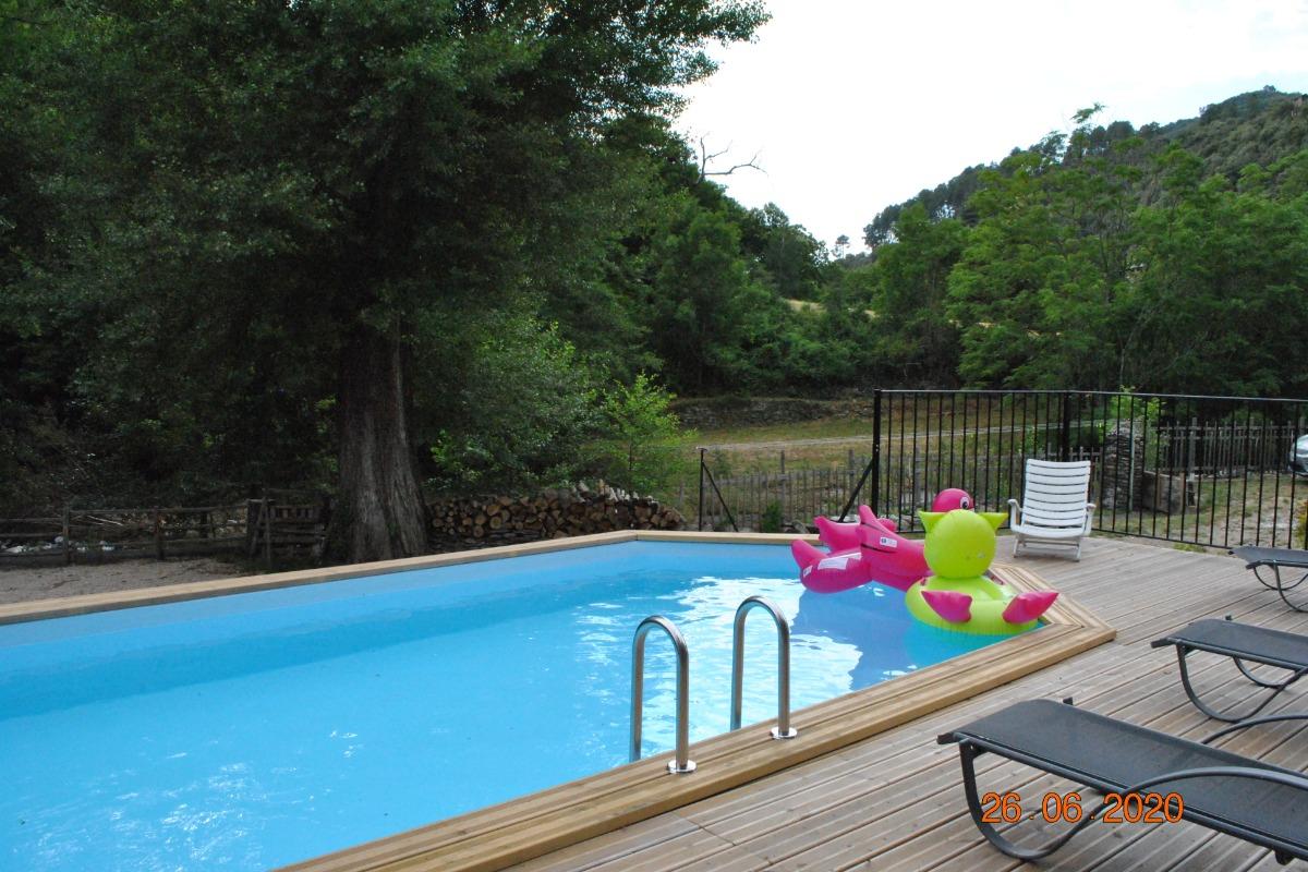 piscine (provisoire) - Location de vacances - Sainte-Croix-Vallée-Française