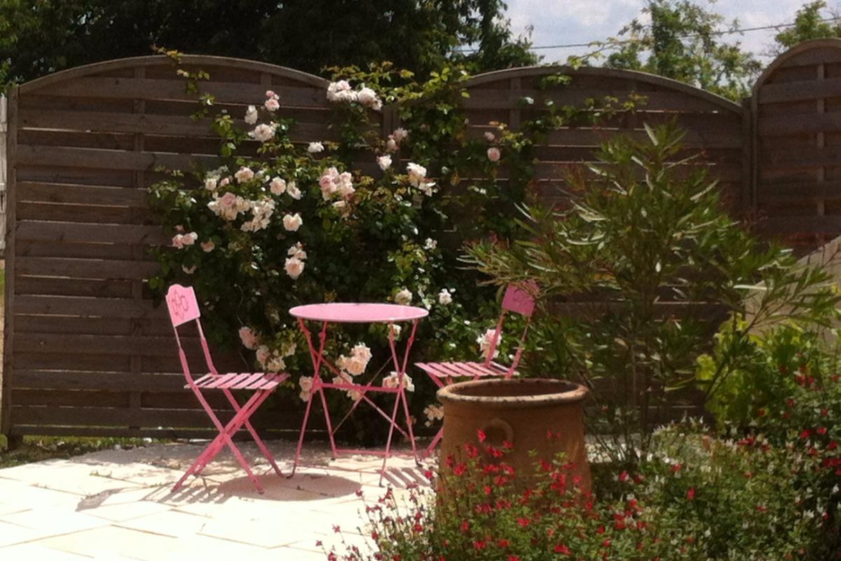 Terrasse chambre Victorine - Chambre d'hôtes - Les Ulmes