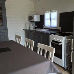 Cuisine dans un chalet pour les deux chambres - Chambre d'hôtes - Les Ulmes